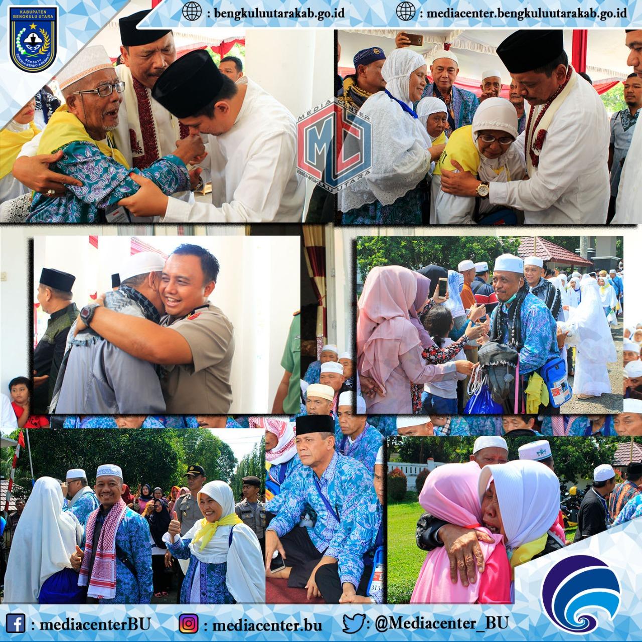Jemaah Haji Bengkulu Utara Tiba di Arga Makmur